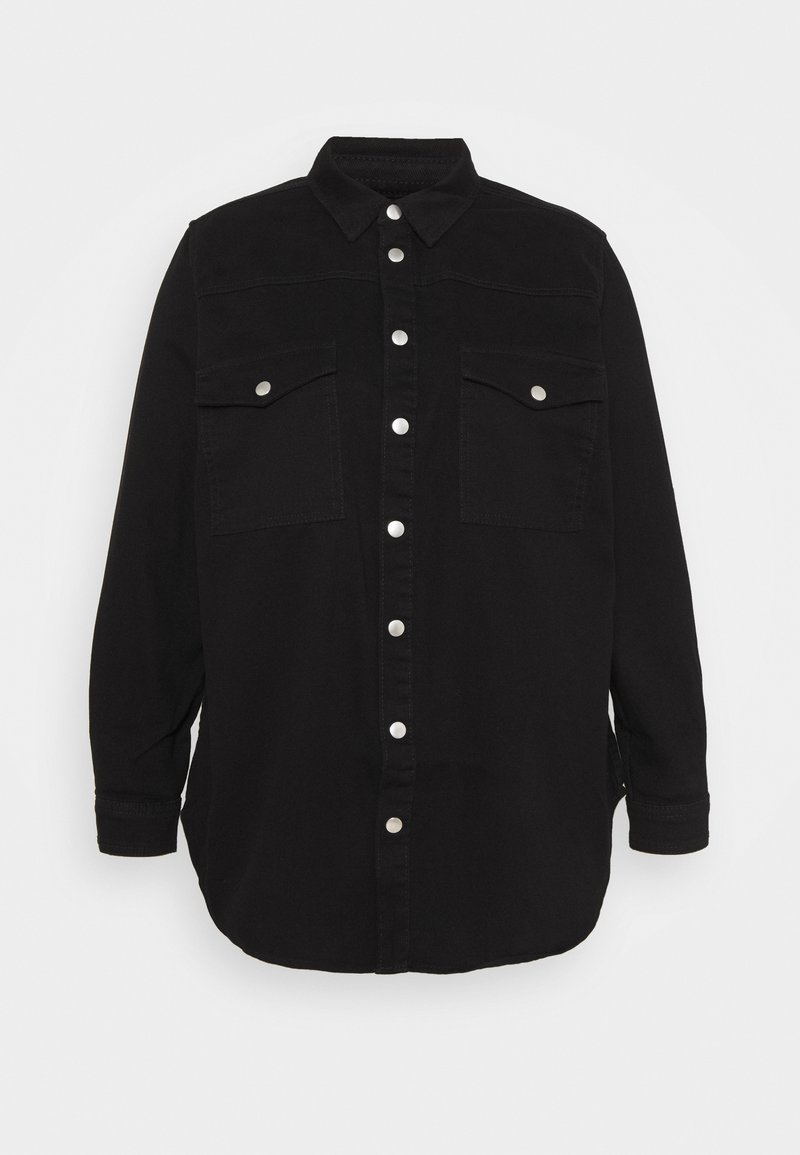New Look Curves - Button-down blouse - black