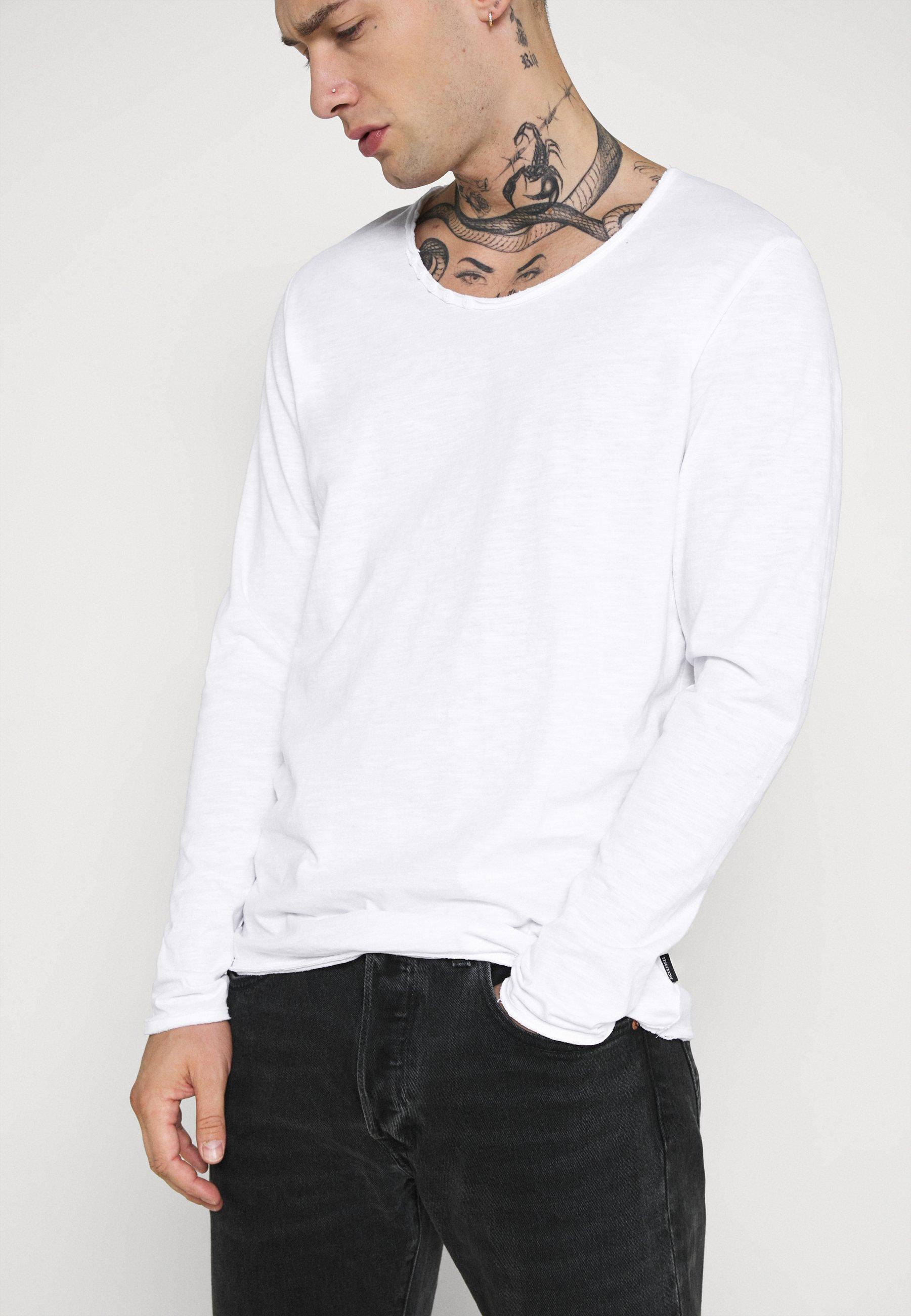 Jack & Jones JJDETAIL  - Long sleeved top - white E8ohO