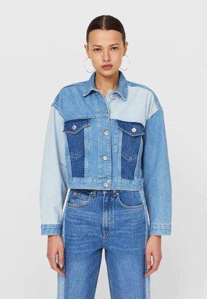 MIT PATCHWORK  - Denim jacket - light blue