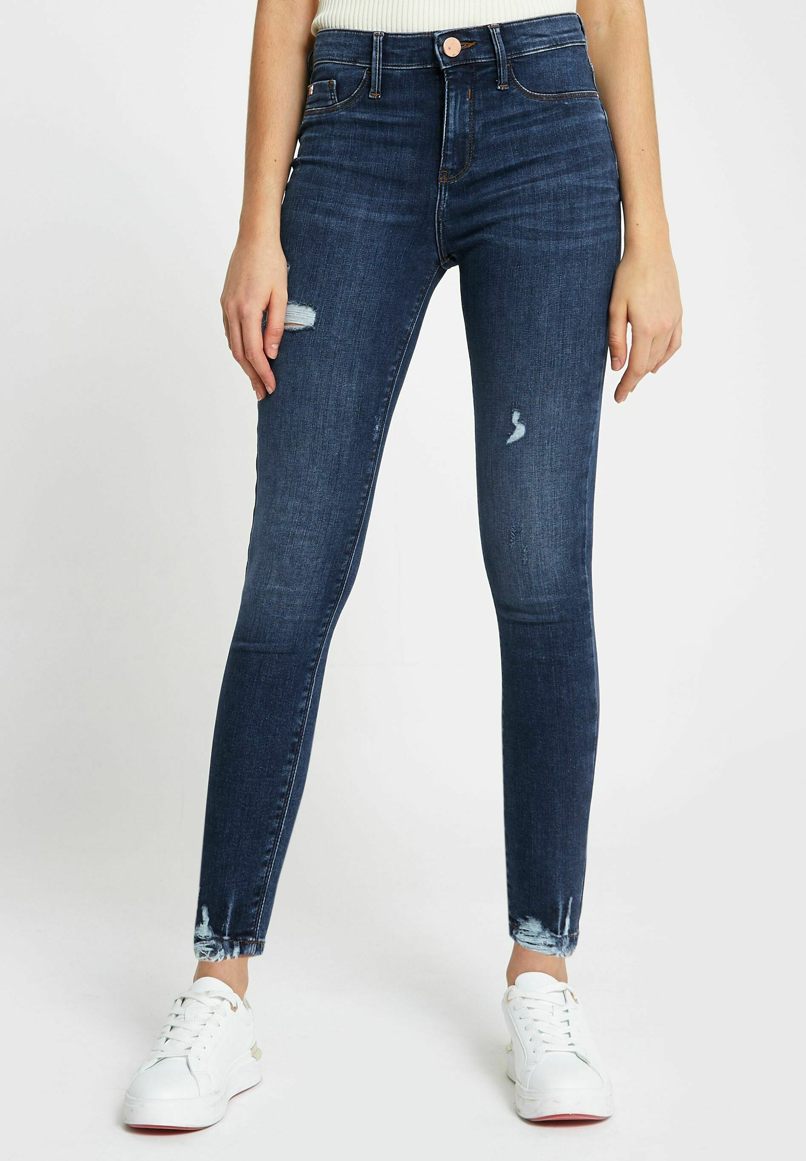 Women BLUE MOLLY MID RISE RIPPED - Jeans Skinny Fit