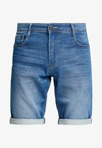 TOM TAILOR - JOSH - Jeansshorts - mid stone wash denim blue - 3