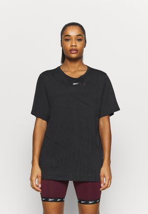 BURNOUT TEE - T-shirts med print - black