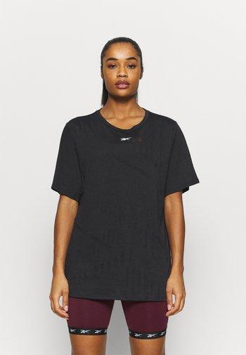 BURNOUT TEE - T-shirts med print - black