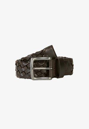 Braided belt - dark chocolate