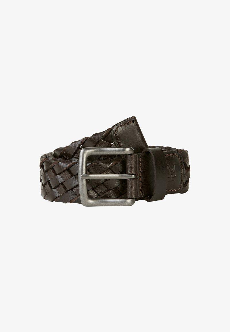 Marc O'Polo - Braided belt - dark chocolate