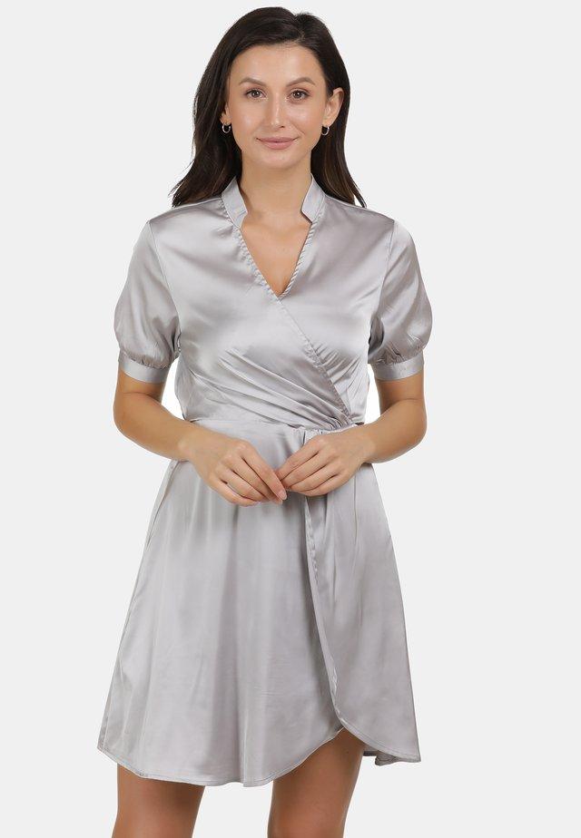 Korte jurk - silber