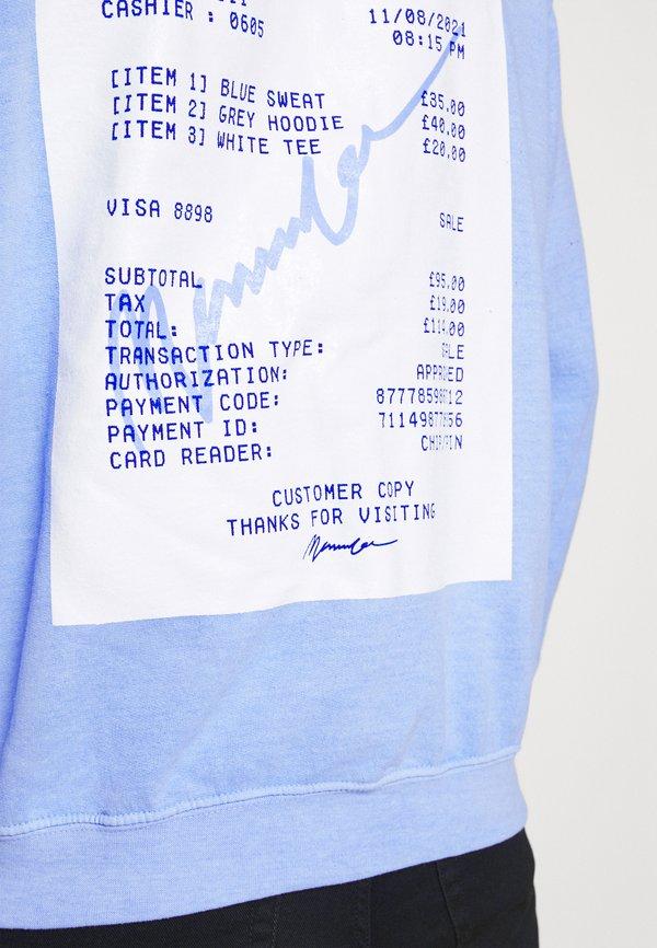 Mennace BREEZE RECEIPT REGULAR HOODIE - Bluza - light blue/jasnoniebieski Odzież Męska EKHO