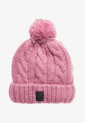 TWEED CABLE - Beanie - rosa