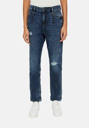 BOYFRIEND MEDIUM RISE - Straight leg jeans - blue dark washed