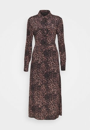 SELVAGGIA DRESS - Shirt dress - iconic brown