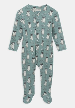 YSIOR RETRO BABY FOOTED ROMPER - Sleep suit - blue