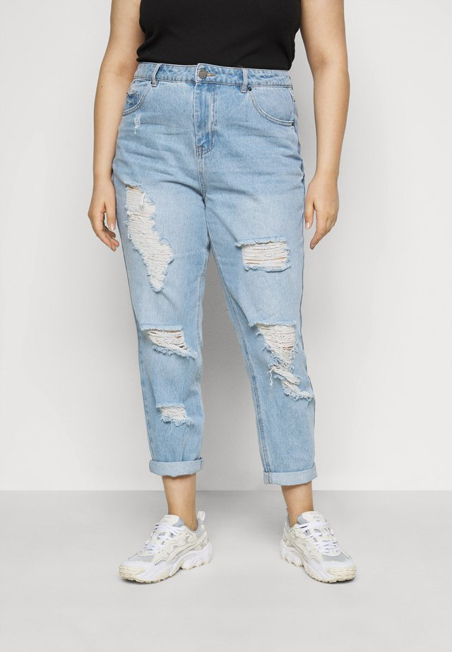 NON STRETCH SUPER MOM - Jean boyfriend - stonewash