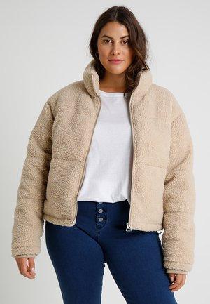 LADIES BOXY SHERPA PUFFER JACKET - Winter jacket - darksand
