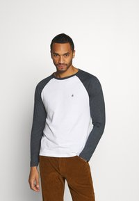 Burton Menswear London - LONG SLEEVE RAGLAN 2 PACK - Long sleeved top - off white - 1