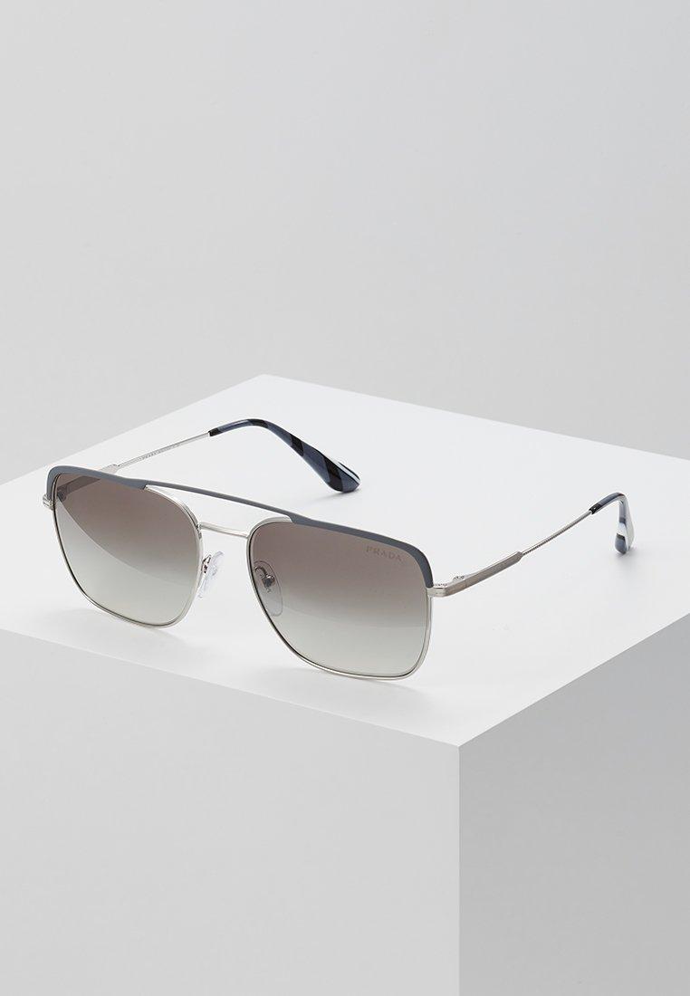 Homme Lunettes de soleil - gunmetal/silver-coloured/gradient grey mirror