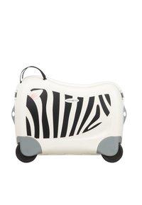 Samsonite - ZUM DRAUFSITZEN - Wheeled suitcase - off-white/black - 1