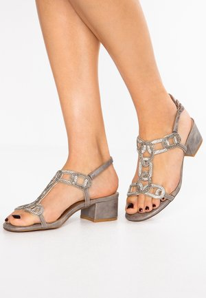 High heeled sandals - oporto pewter