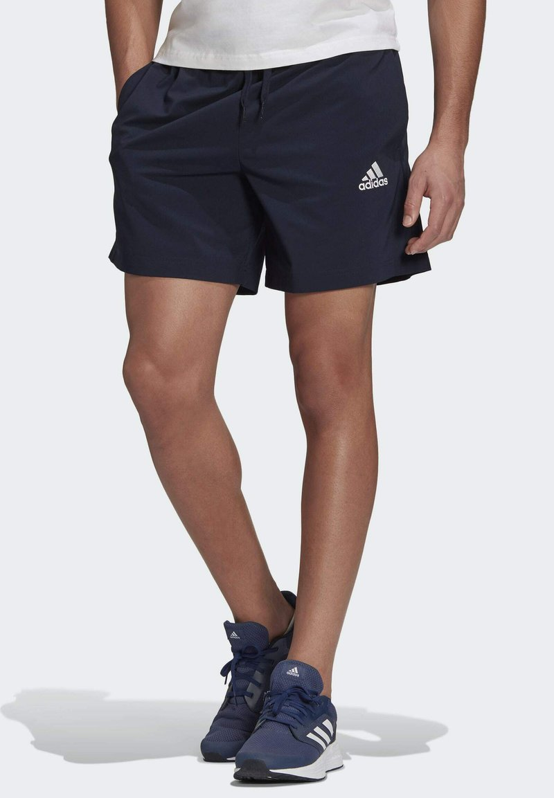 adidas Performance - Korte sportsbukser - blue