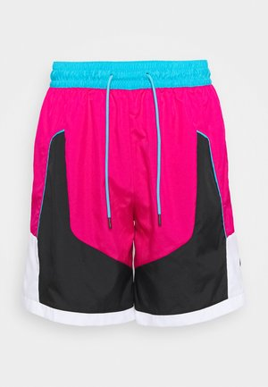 THROWBACK SHORT NARRATIVE - Sports shorts - fireberry/black/light blue fury