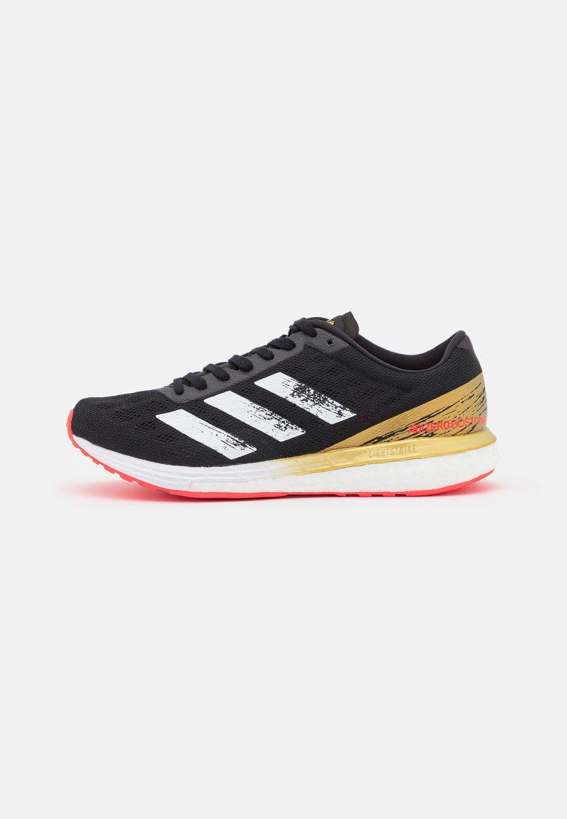 adidas Performance - ADIZERO BOSTON 9  - Competition running shoes - core black/footwear white/gold metallic
