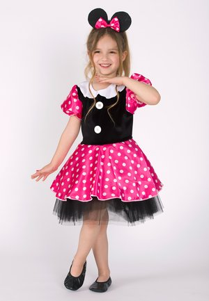 LELA POLKA DOT MINNIE MOUSE WITH CROWN  - Cocktail dress / Party dress - black-pink