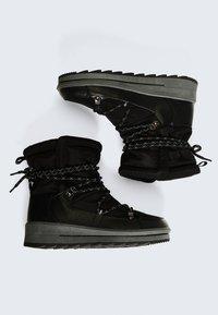 OYSHO - Lace-up ankle boots - black - 4