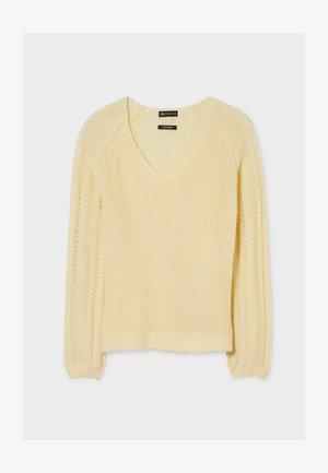 Sweter - light yellow