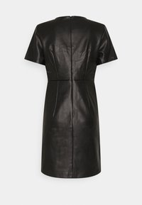 Vila - VIJAFFI COATED DRESS - Kjole - black - 1