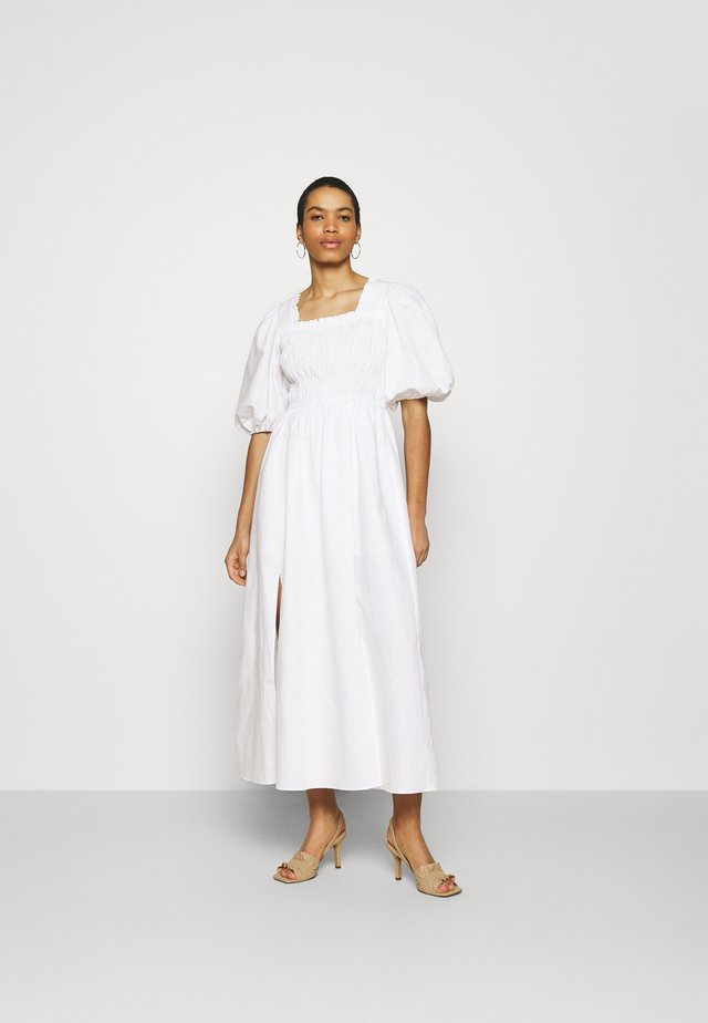 LIVI DRESS - Długa sukienka - chalk white