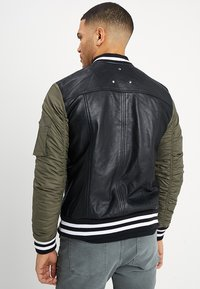 Be Edgy - BESASCHA - Leather jacket - black/oliv - 2