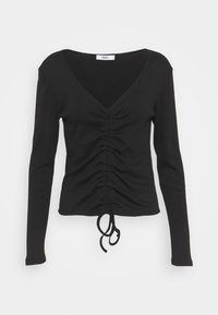 ONLY - ONLMAYA ROUCHING  - Long sleeved top - black - 0