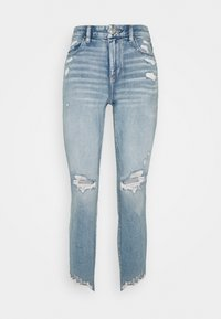 American Eagle - CURVY HI-RISE CROP - Jeans Skinny Fit - destroyed bright - 3