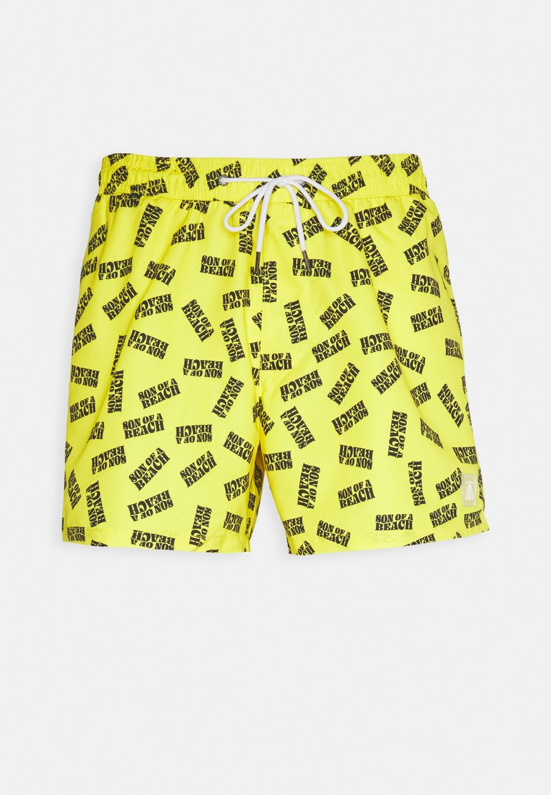 Topman - SON OF A BEACH - Swimming shorts - yellow