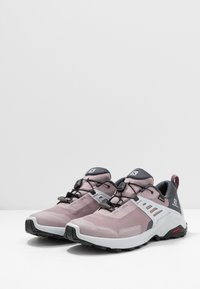 Salomon - X RAISE GTX - Hiking shoes - quail/india ink/flint - 2
