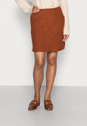A SHAPE ATTACHED POCKETS SHORT LENGTH - A-line skirt - rustic orange