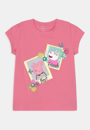NMFPEPPAPIG MEGAN - T-shirts print - pink