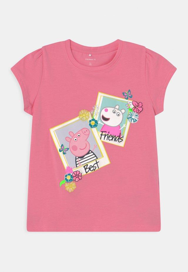 NMFPEPPAPIG MEGAN - T-shirt con stampa - pink