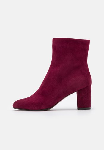 Classic ankle boots - burgundy