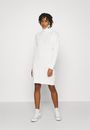 TURTLE NECK DRESS - Jumper dress - snow white