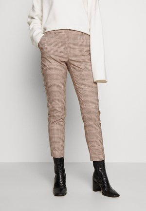 GRID CHECK ANKLE GRAZER TROUSER - Trousers - multi