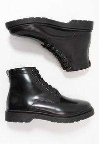 Walk London - CILLIAN LACE BOOT - Botki sznurowane - black - 1