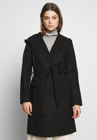 JDY - JDYOVIDA LONG HOOD JACKET - Short coat - black - 0