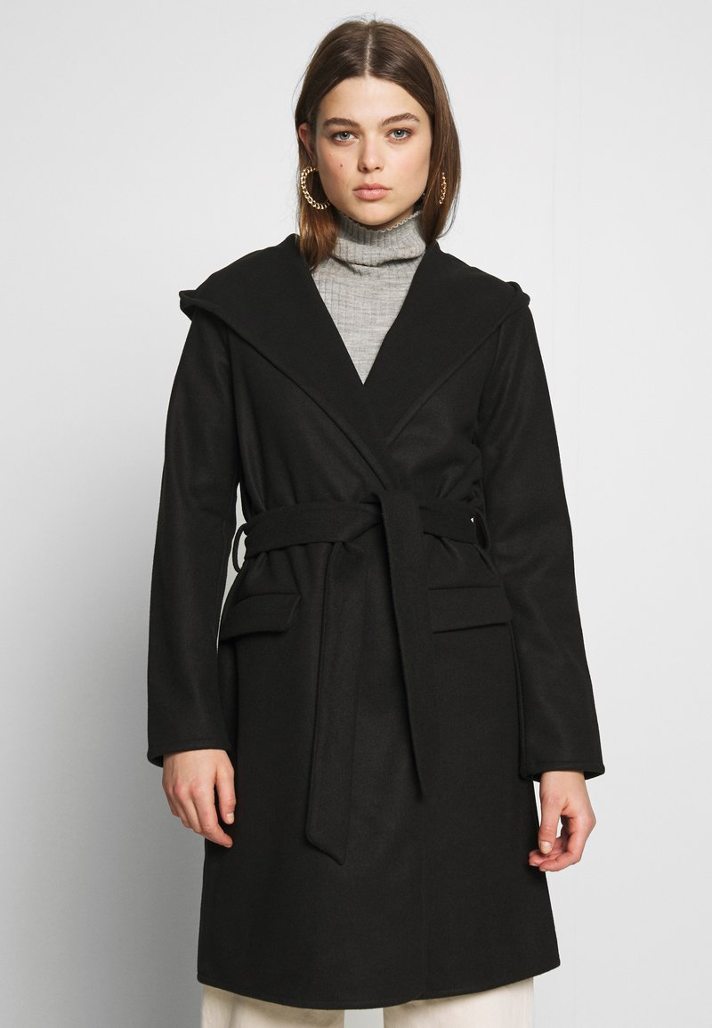 JDY - JDYOVIDA LONG HOOD JACKET - Short coat - black