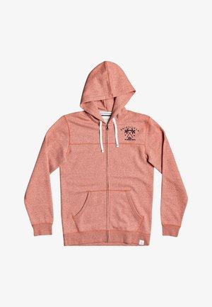 Zip-up hoodie - chili heather