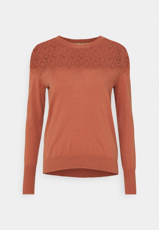 ESSENTIAL - Sweter - copper/brown