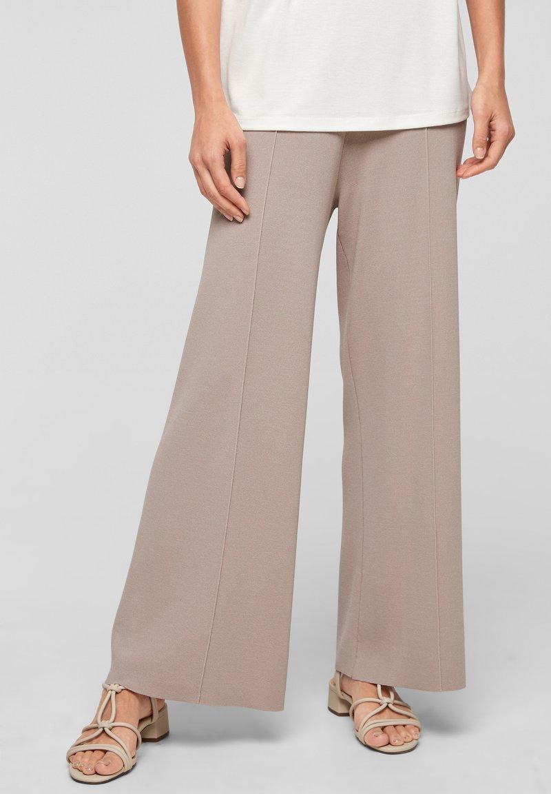 s.Oliver BLACK LABEL - Trousers - light grey