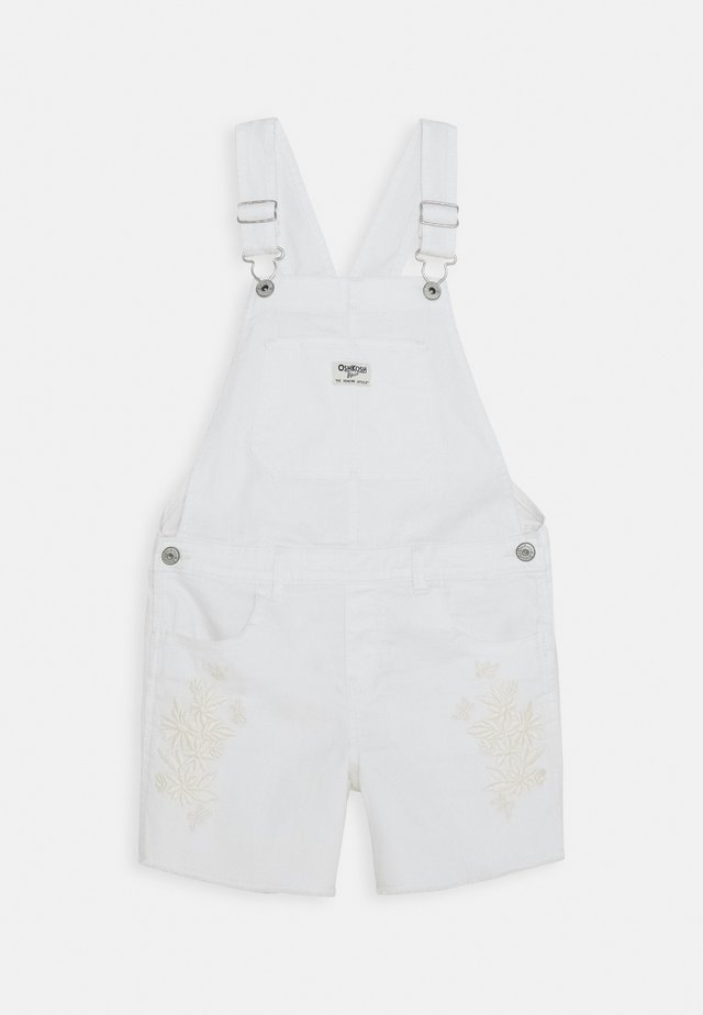 DUNGAREE TEENS - Snekkerbukse - white