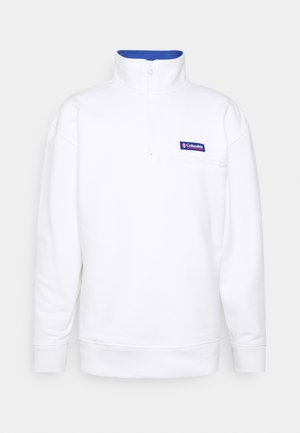 BUGA QUARTER ZIP - Mikina - white/lapis blue