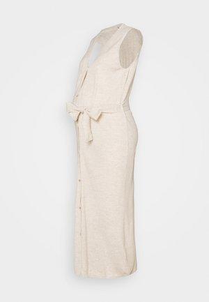 MLZIA LONG CARDIGAN - Žerzejové šaty - oatmeal