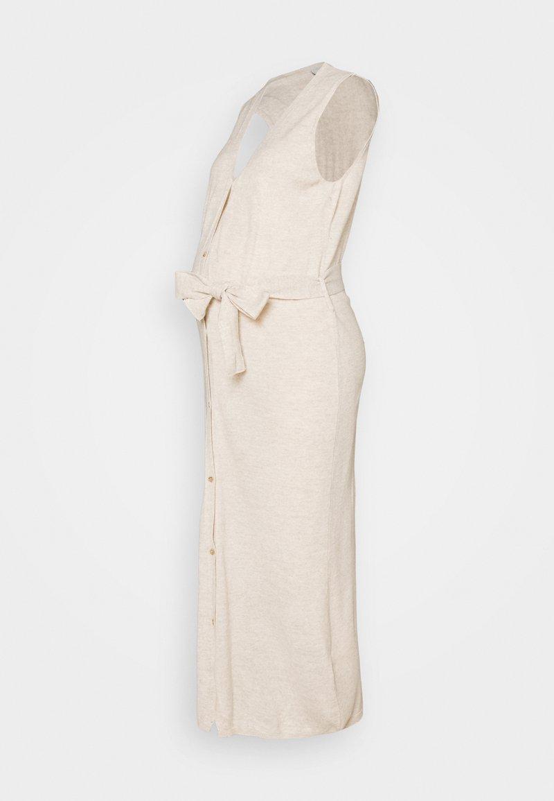 MAMALICIOUS - MLZIA LONG CARDIGAN - Jersey dress - oatmeal
